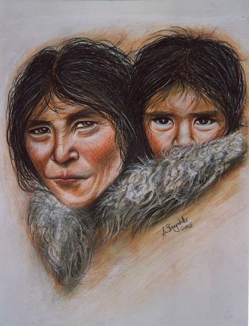 P 31 - Künstler Portrait Gesichter Gemalt - Tibeter