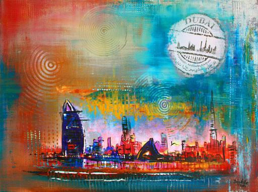 S 8 - Stadtbilder auf Leinwand - Dubai abstrakt