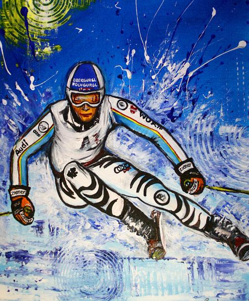S 31 - Sport Gemälde Skifahrer Leinwandbild - Fritz Dopfer 16