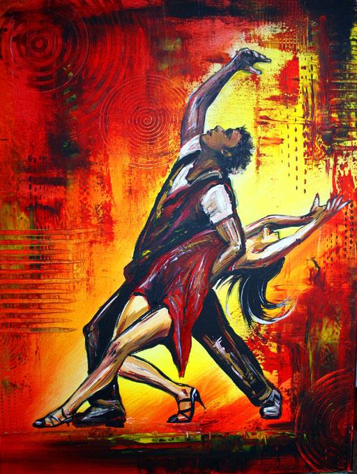 S 14- Tanz Malerei -  Gemälde Tänzer - Salsa 3