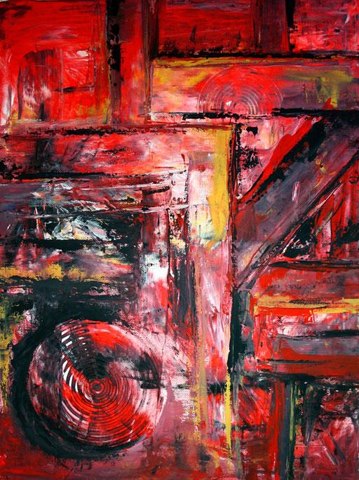 153 Verkaufte Bilder abstrakt - Rotes Chaos