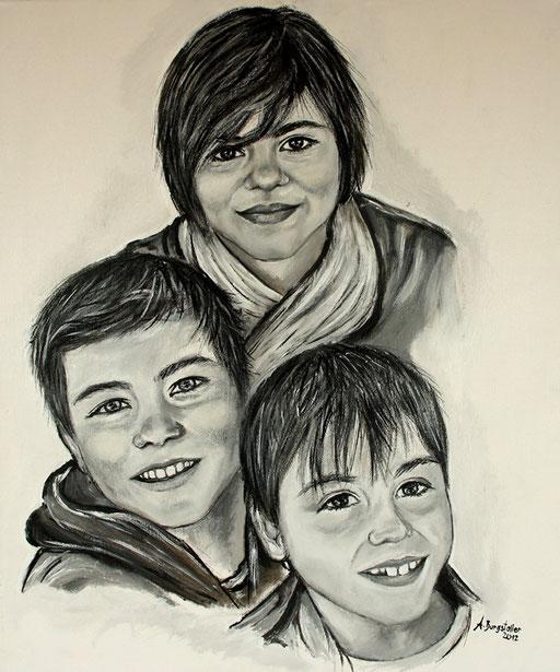 P 39 - Künstler Portrait Gesichter Gemalt - Patenkinder 1