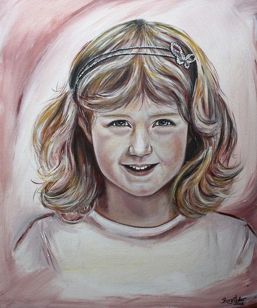 Portraitmalerei - Portrait Maler - Portraitbilder - Portraits - Mischtechnik - Mädchen