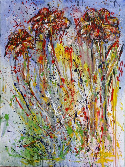 B 10 - Blumenbilder auf Leinwand - Blütenexplosion