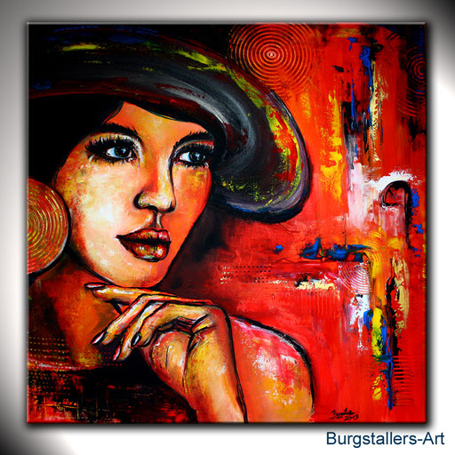 P 11 - Künstler Portrait Gesichter Gemalt -