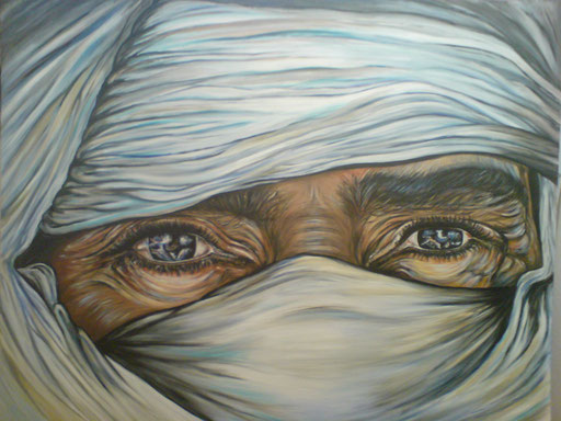 P 35 - Künstler Portrait Gesichter Gemalt - Weißer Tuareg 1