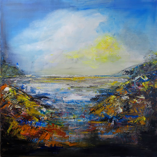 L 33 Faraway abstrakte Küsten Bilder gemalt