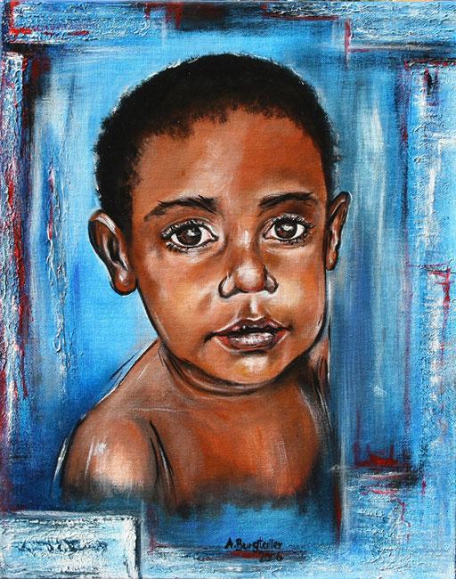 P 27 - Künstler Portrait Gesichter Gemalt - Neuguinea