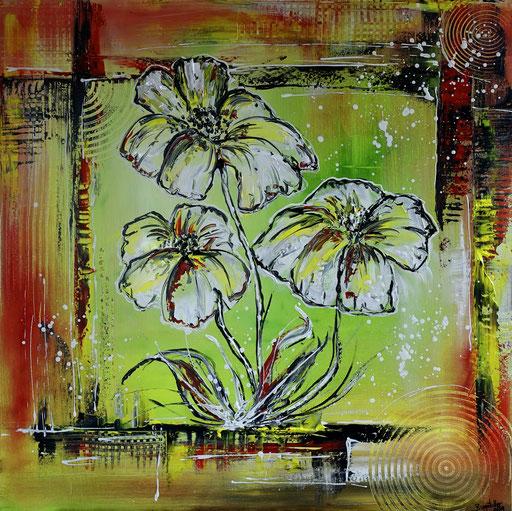 B 65 Drei Weiße Blüten 80x80