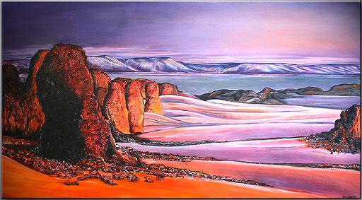 L 25 - Algerien Gemälde Malerei 100x180
