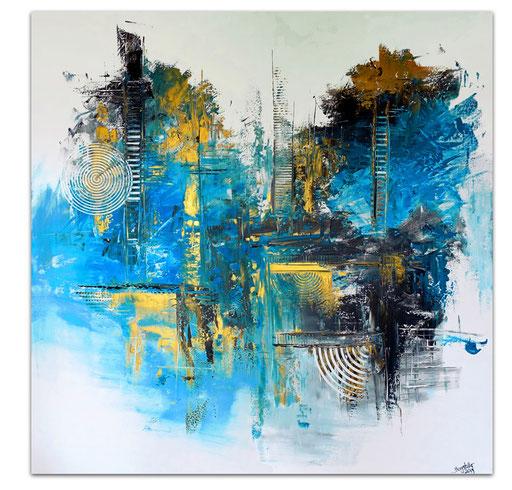 324 - Fusion Abstrakte Malerei 100x100