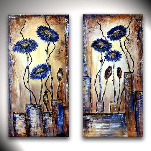 B 11 - Blumenbilder auf Leinwand - Kornblumen