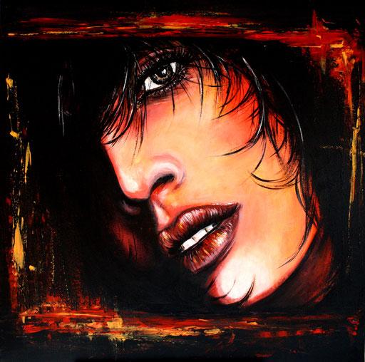 P 32 - Künstler Portrait Gesichter Gemalt - Untouchable 1