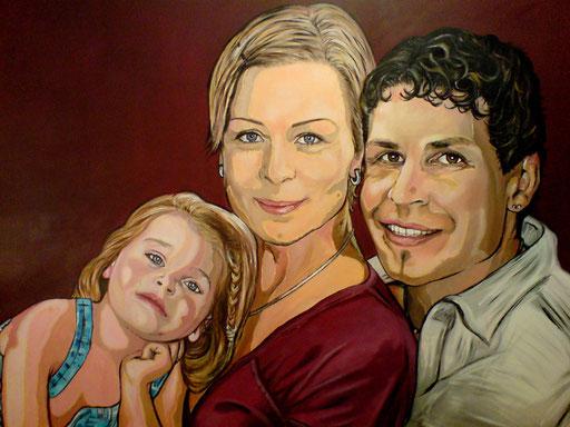 P 47 - Künstler Portrait Gesichter Gemalt - Familie