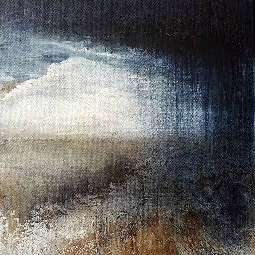 Into the Cold 4, acrylic in canvasboard 30x30, framed