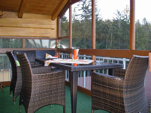 Flats Haus Spannbauer ****: balcony Plöckenstein