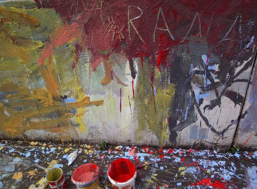 """cook & paint - kochen und malen als Integrationsidee. Flüchtlingswohnheim Hasenbergstr. 68. Initiiert von Doris Graf, Hannelore Kober und Birgit Neußer/ """"Die Landfrau""""."""
