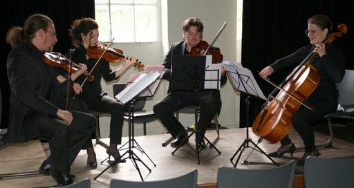 Le Quartett Orféo le 22 avril 2015 en concert à Lasalle, à la Filature du Pont de Fer