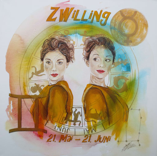 "Sternzeichenbild Zwillinge - Serie ""classic"""