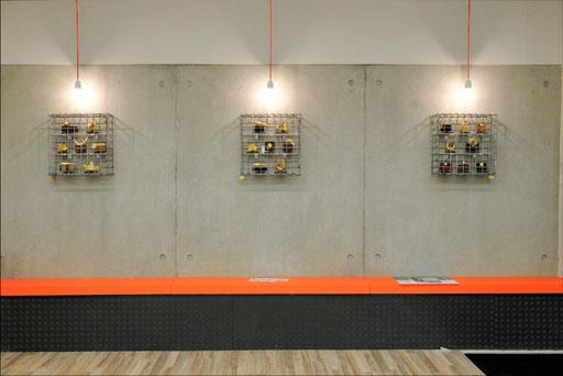 Eingangsbereich: Schauobjekte  Goldminiaturen