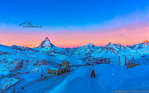 Bild: Morgenschicht auf dem Gornegrat