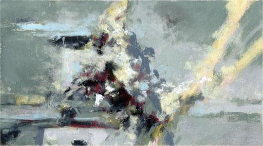 Blackfield XXVIII, Kreide auf Papier, 2017, 25 x 14 cm