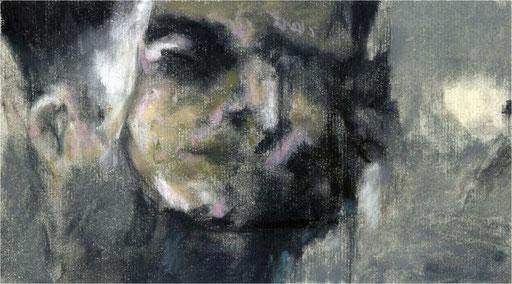 Blackfield XIV, Kreide auf Papier, 2016, 25 x 14 cm