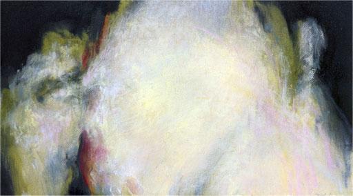 Blackfield XXV, Kreide auf Papier, 2017, 25 x 14 cm