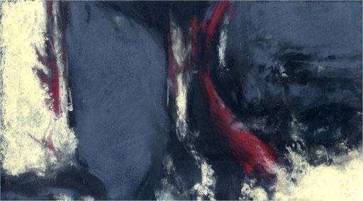 Blackfield XXIX, Kreide auf Papier, 2017, 25 x 14 cm