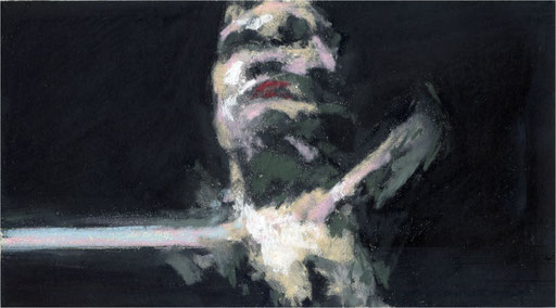Blackfield XXI, Kreide auf Papier, 2017, 25 x 14 cm