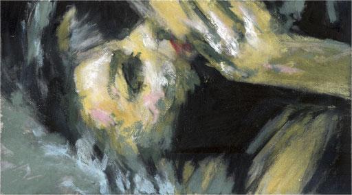Blackfield XXIII, Kreide auf Papier, 2017, 25 x 14 cm