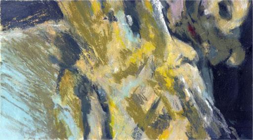 Blackfield XIV, Kreide auf Papier, 2017, 25 x 14 cm