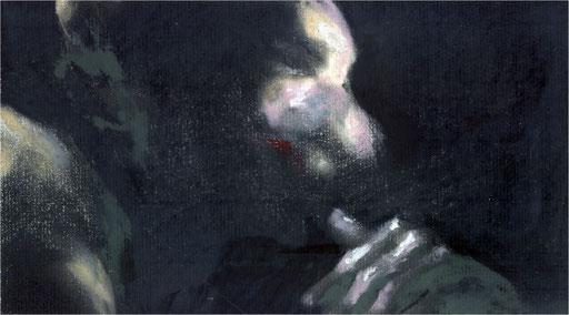 Blackfield X, Kreide auf Papier, 2016, 25 x 14 cm