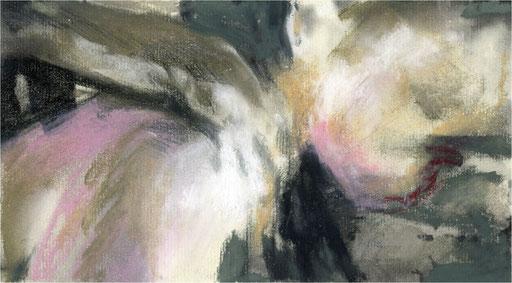 Blackfield VI, Kreide auf Papier, 2016, 25 x 14 cm