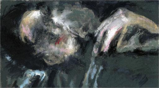 Blackfield XVI, Kreide auf Papier, 2017, 25 x 14 cm