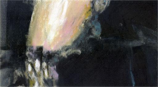 Blackfield XII, Kreide auf Papier, 2016, 25 x 14 cm