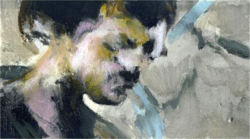 Blackfield I, Kreide auf Papier, 2016, 25 x 14 cm