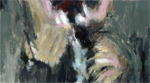 Blackfield XV, Kreide auf Papier, 2017, 25 x 14 cm