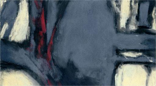 Blackfield XXX, Kreide auf Papier, 2017, 25 x 14 cm