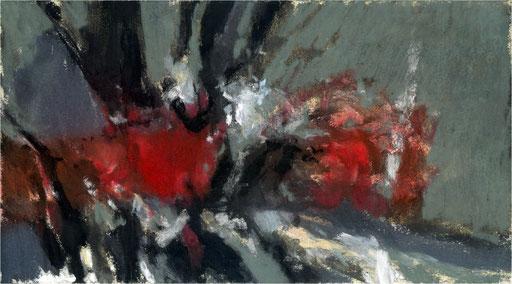 Blackfield XXXI, Kreide auf Papier, 2017, 25 x 14 cm