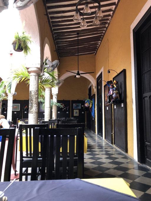 The restaurant Irene had lunch in Merida