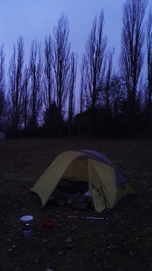 Auf dem Campingplatz in Röbel