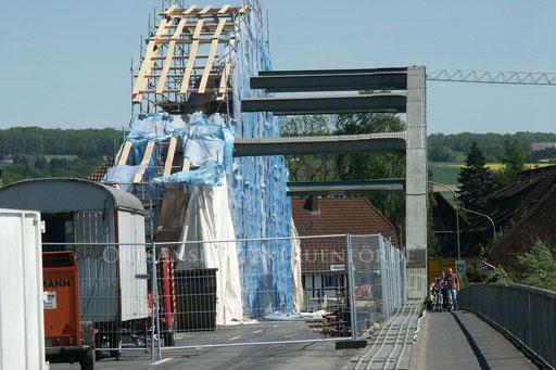 Sanierung der Weserbrücke 2003 - 2004 / Foto Gerd Eggers † 2011