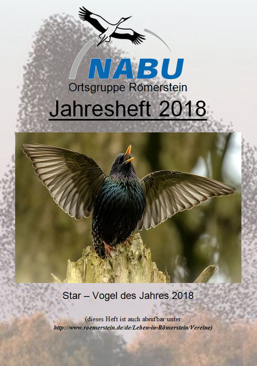 Jahresheft 2018 des NABU Römerstein