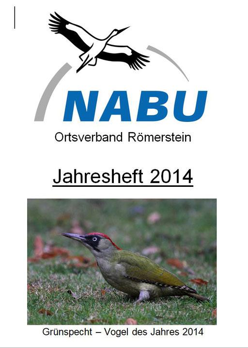 Jahresheft 2014 des NABU Römerstein