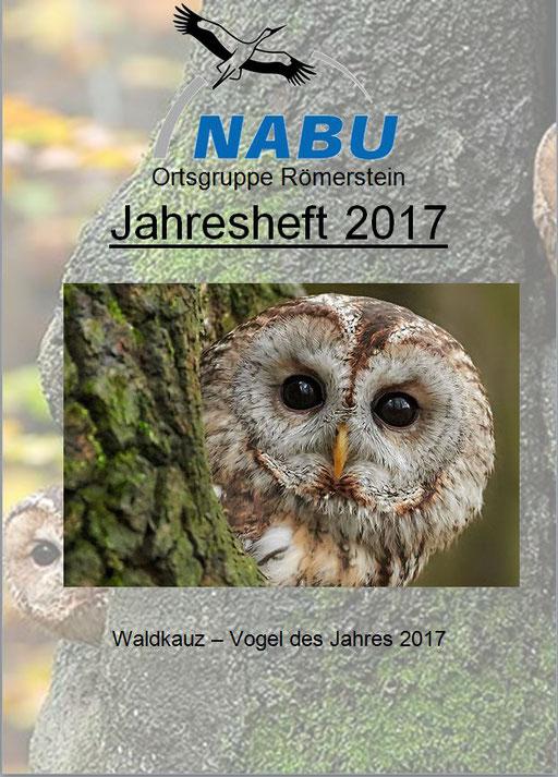 Jahresheft 2017 des NABU Römerstein