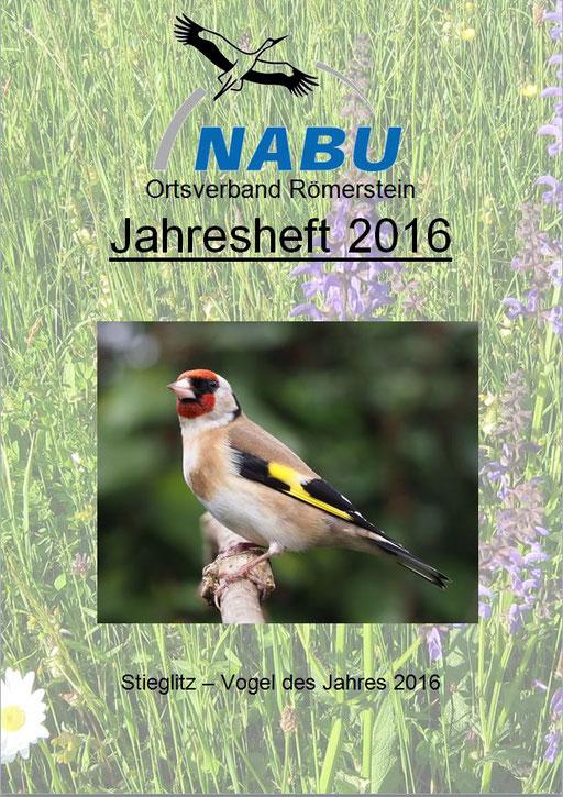 Jahresheft 2016 des NABU Römerstein