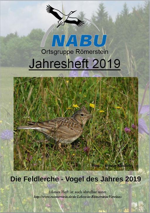 Jahresheft 2019 des NABU Römerstein