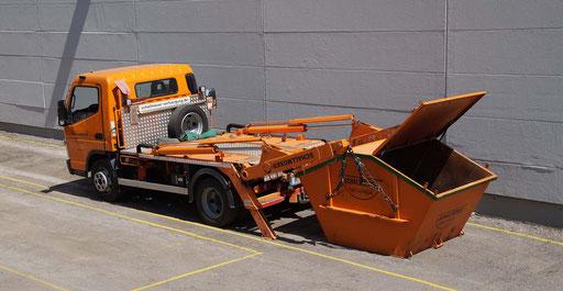 Kleiner Container 3 cbm mit Deckel