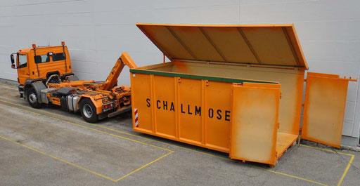 Abrollcontainer 28 cbm mit Deckel